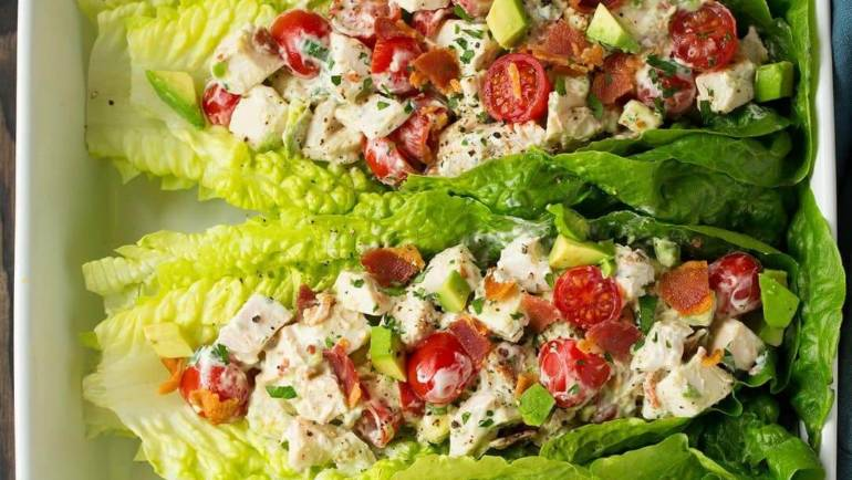 Chicken Salad with Lettuce