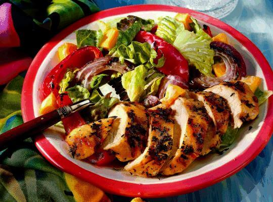 Jerk Chicken Salad with Lettuce