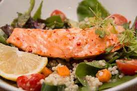 Sweet Chili Salmon Salad