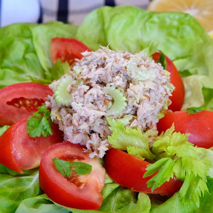Tuna Salad with Lettuce & Tomato
