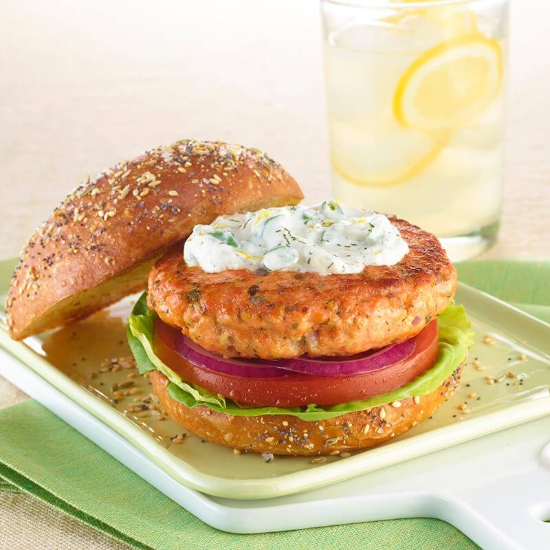 Double Salmon Cheese Burger